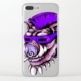 Beebop Don't Stop Clear iPhone Case
