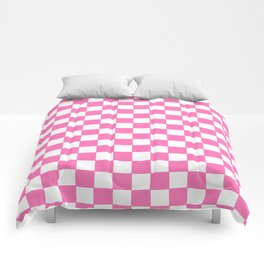 Checkers - Pink and White Comforters