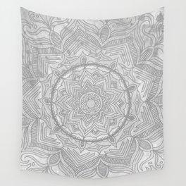 gray splash mandala swirl boho Wall Tapestry