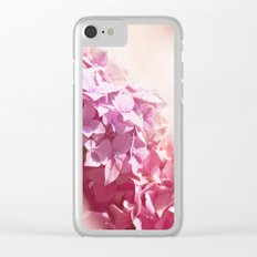 Dreamy pink hydrangea - Flower - Floral Clear iPhone Case