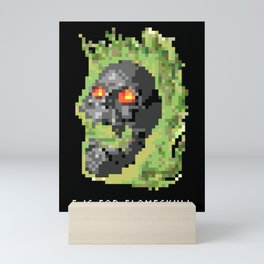 F is for Flameskull Mini Art Print