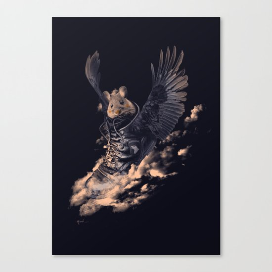 Flying Mouse Canvas Print