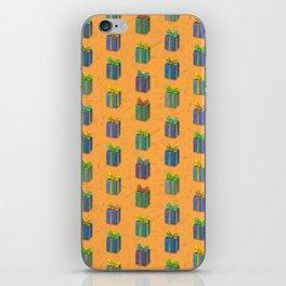 Presents pattern orange iPhone Skin