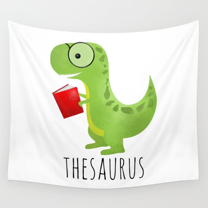 thesaurus wall tapestry by avenger society6