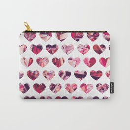 Crystal Hearts Pattern Carry-All Pouch