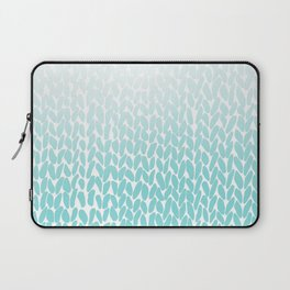 Hand Knitted Ombre Teal Laptop Sleeve