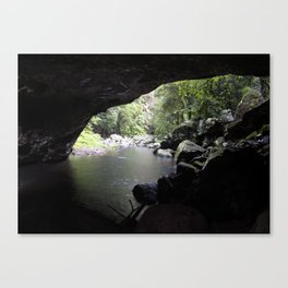 Cave Stream Canvas Print