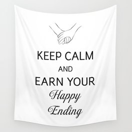 Earn Your Happy Ending [Black] Wall Tapestry