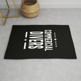 Commercial Divers Job Title Gift Rug