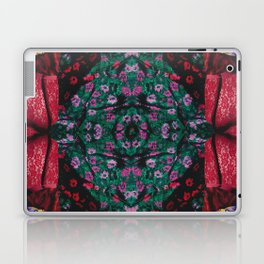 red lace - a modern, colorful collage Laptop & iPad Skin