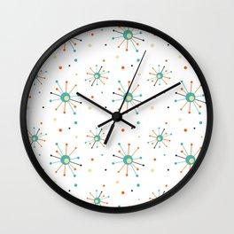 Atomic Age Starburst Mid-century Retro Pattern Wall Clock