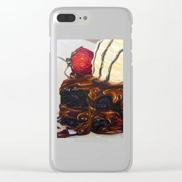 hot fudge brownie Clear iPhone Case