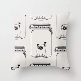 Kissing The Jar Throw Pillow