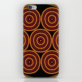 Aboriginal Cycle Style Painting iPhone Skin