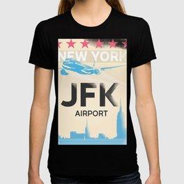 JFK stylish airport code T-shirt