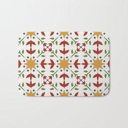 Starflower Quilt Pattern Bath Mat