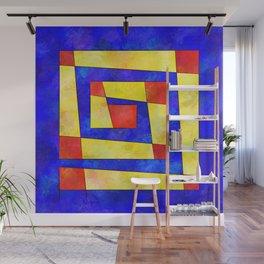Semirenium - simple coloured cube world Wall Mural