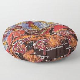 Uluru (Ayers Rock) Authentic Aboriginal Art Floor Pillow