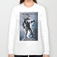 terminator Long Sleeve T-shirts featuring Terminator by MartiniWithATwist