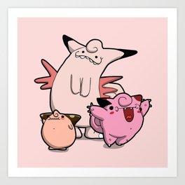 Pokémon - Number 35 & 36 Art Print