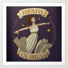 Hipatia en breve Art Print