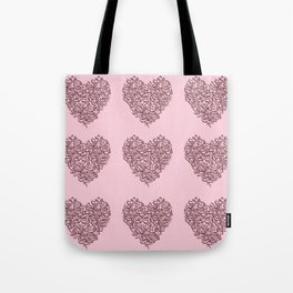 small harts arabic letters pink and red Tote Bag