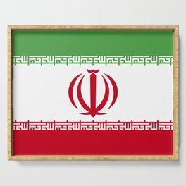 Iran flag emblem Serving Tray