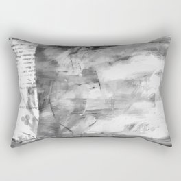 Triskelion Book Abstract Black and White by Ericka O'Rourke Rectangular Pillow