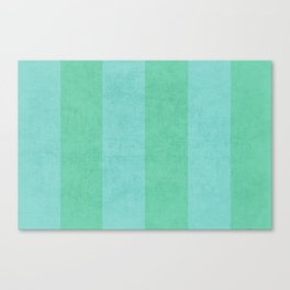 vintage mint and teal stripes Canvas Print