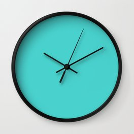 Dark Turquoise Wall Clock