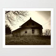abandoned house Art Print