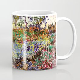 Vincent Van Gogh Flowering Garden Coffee Mug