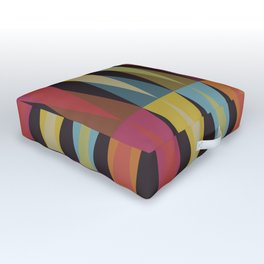 Party Argyle on Chocolate Brown Outdoor Floor Cushion