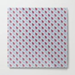 Moon Beams at Midnight, Gray and Pink Coordinate Metal Print