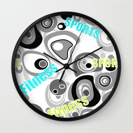 Abstract pattern . Sport . Fitness. Wall Clock