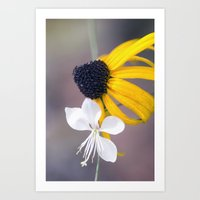 friendship Art Prints featuring Friendship by Laura George