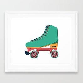 old school roller skate Framed Art Print