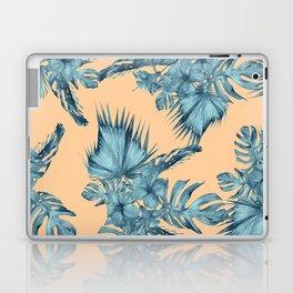 Island Love Hibiscus Palm Orange Teal Blue Laptop & iPad Skin