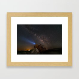 Milky Way over Borrego Springs J E E P sculpture Framed Art Print