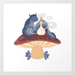 Blue caterpillar Art Print