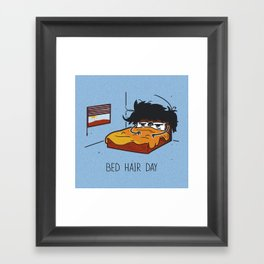Bed Hair Day Framed Art Print