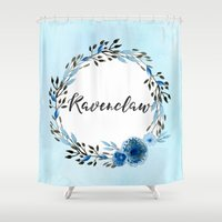 ravenclaw Shower Curtains featuring HP Ravenclaw in Watercolor  by Snazzy Sisters