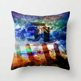 Photos of Yesterday and Today. Throw Pillow