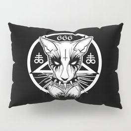 Black Metal Cat Pillow Sham
