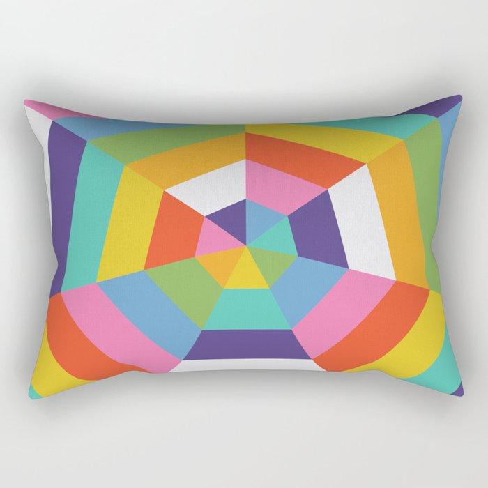 Heptagon Quilt 4 Rectangular Pillow