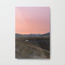 Sunrise on the Lamar Valley Metal Print