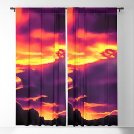 cloudy burning sky reaclsh Blackout Curtain
