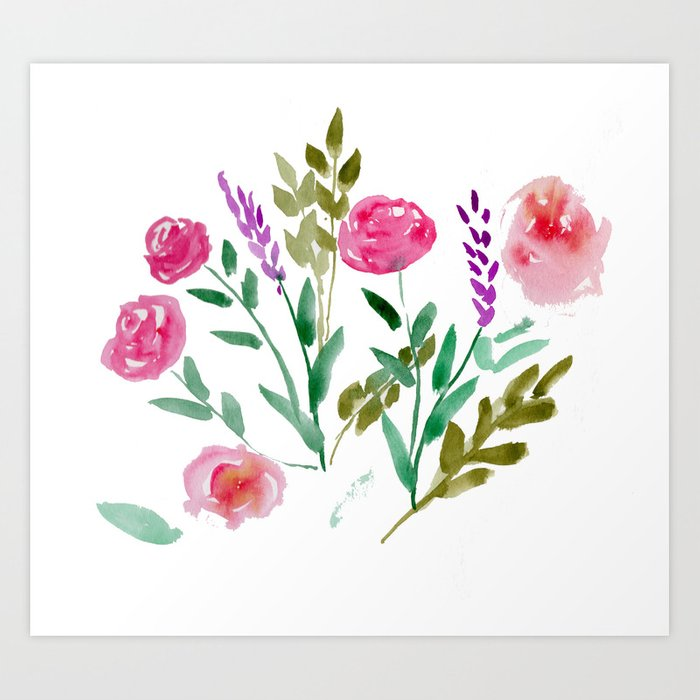 Country Bouquet Art Print