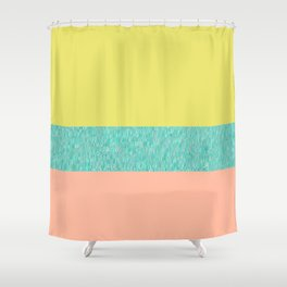 Yellow-Pink Shower Curtain