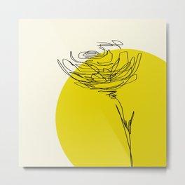 line drawing - flower Metal Print